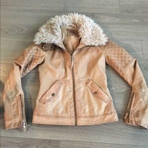 ZARA quilted fur jacket